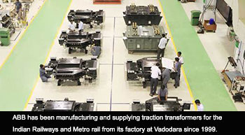 ABB wins order to supply 1600 transformers to Indian Railways
