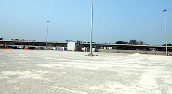 Construction of container storage yard with StrataWeb